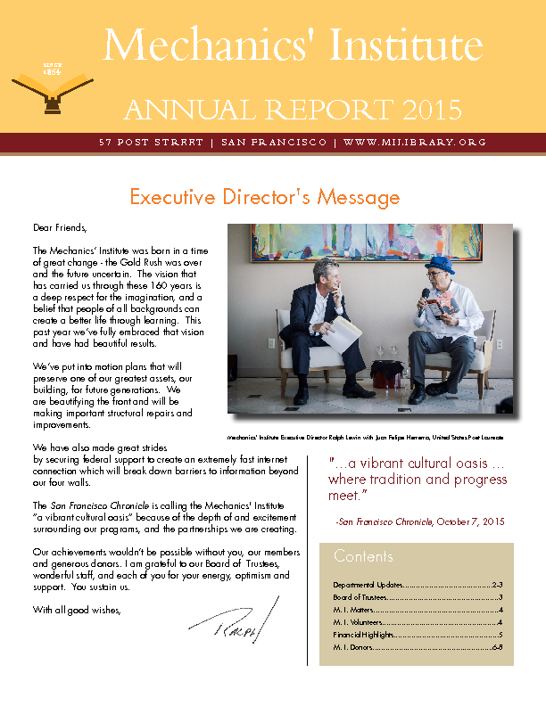 PDF version of the 2015 Annual Report publication