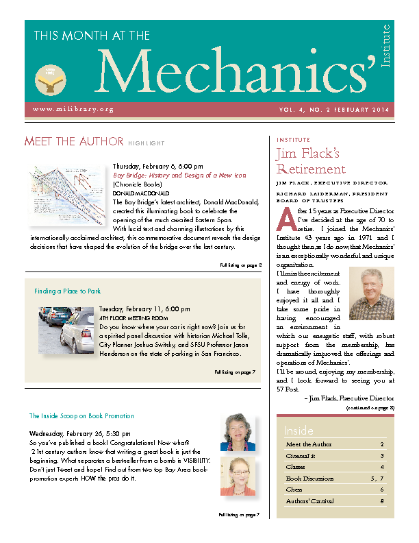 PDF version of theThis Month: February 2014 publication