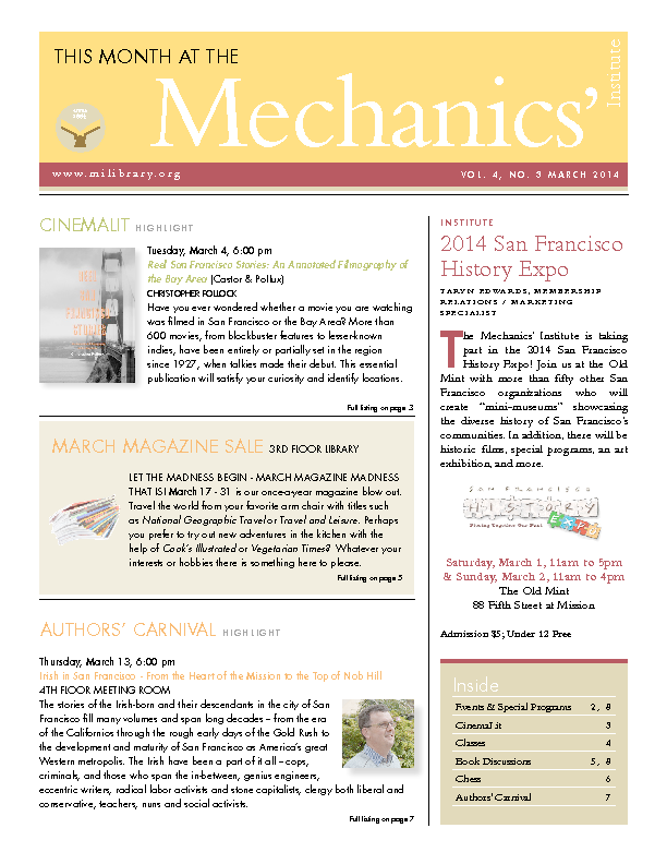 PDF version of theThis Month: March 2014 publication