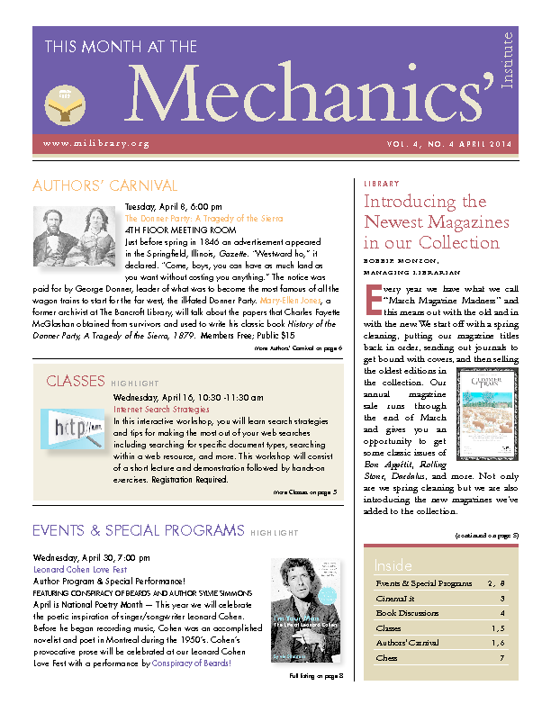 PDF version of theThis Month: April 2014 publication