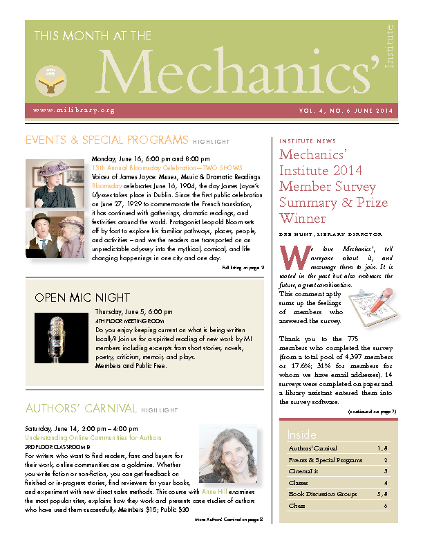 PDF version of theThis Month: June 2014 publication