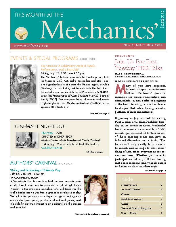 PDF version of theThis Month: July 2013 publication