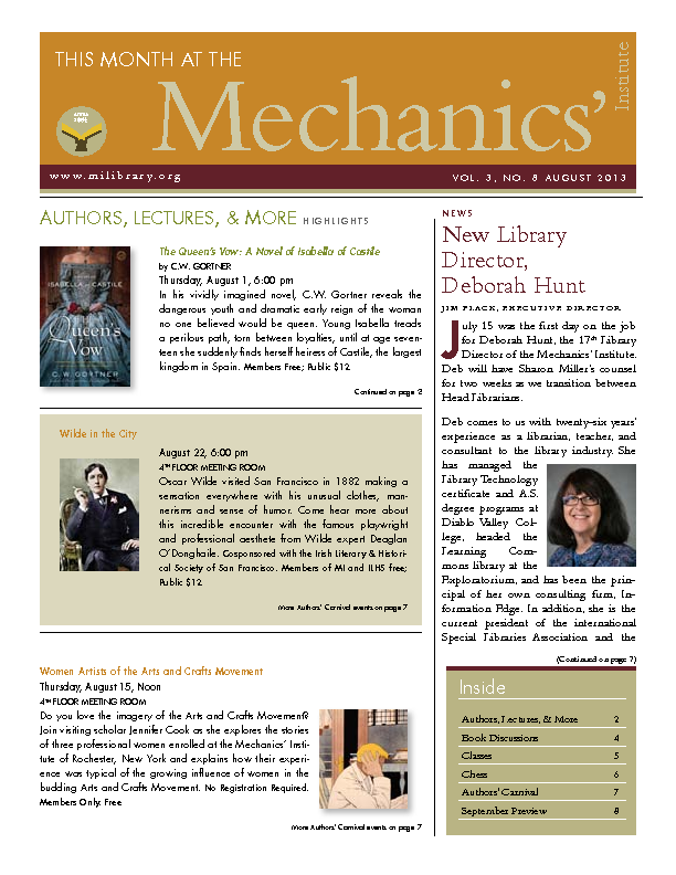 PDF version of theThis Month: August 2013 publication