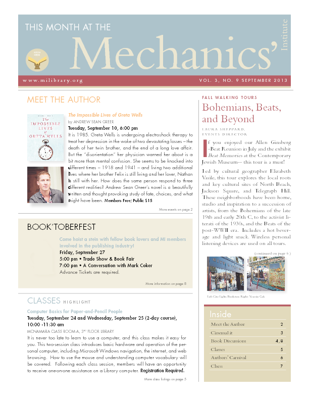 PDF version of theThis Month: September 2013 publication