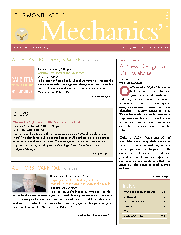 PDF version of theThis Month: October 2013 publication