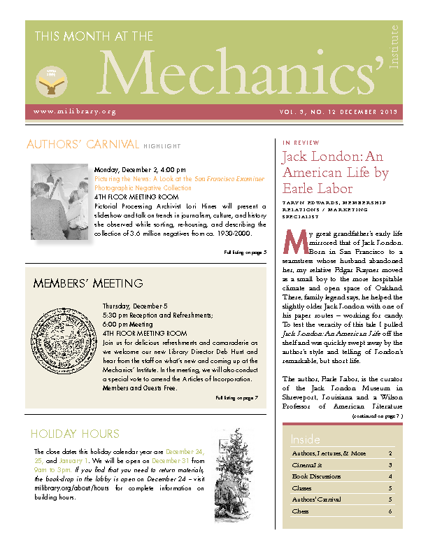 PDF version of theThis Month: December 2013 publication