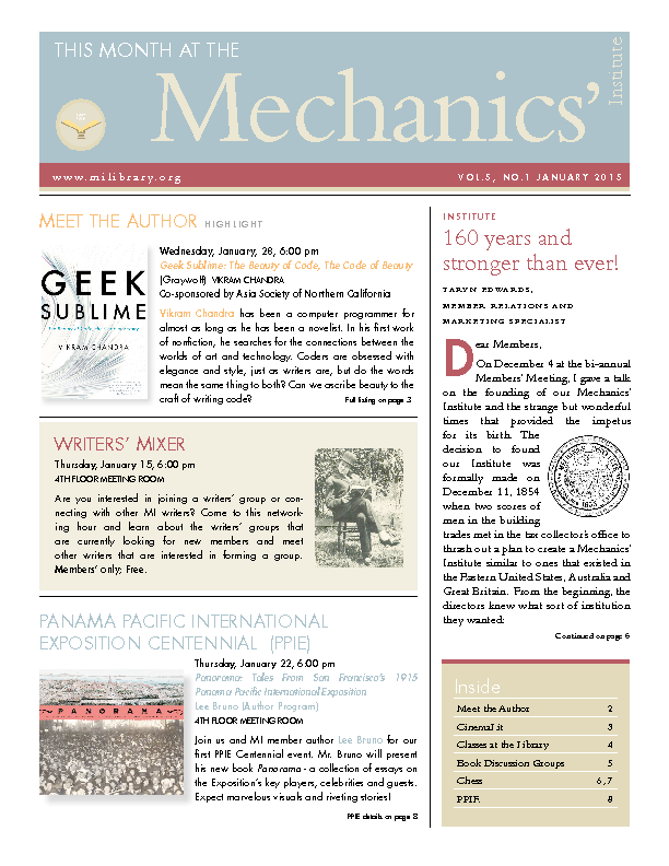 PDF version of theThis Month: January 2015 publication
