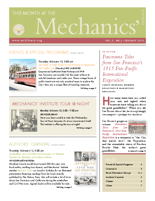 PDF version of theThis Month: February 2015 publication