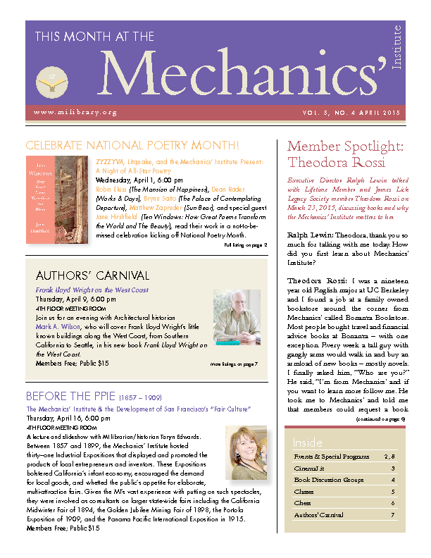 PDF version of theThis Month: April 2015 publication