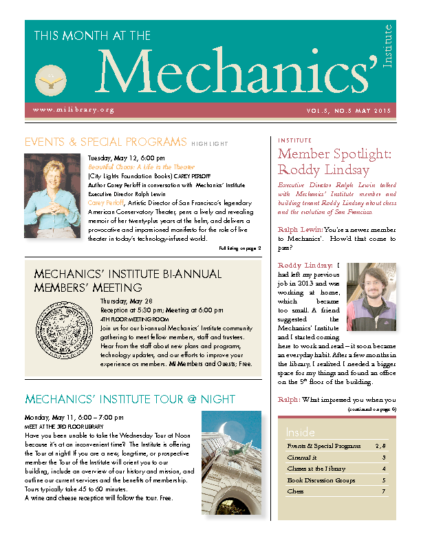 PDF version of theThis Month: May 2015 publication