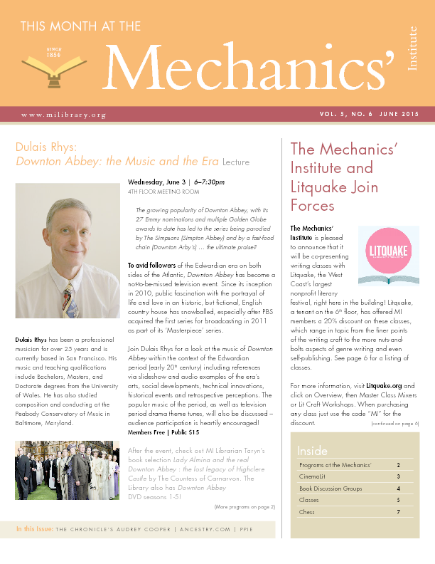 PDF version of theThis Month: June 2015 publication