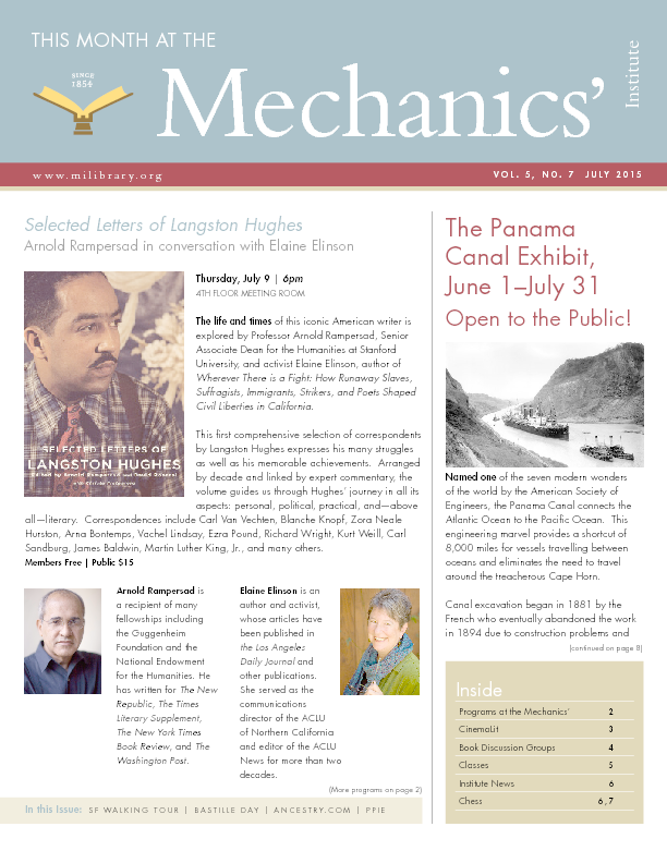 PDF version of theThis Month: July 2015 publication
