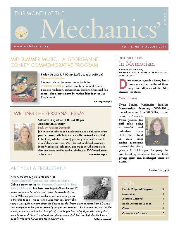 PDF version of theThis Month: August 2014 publication