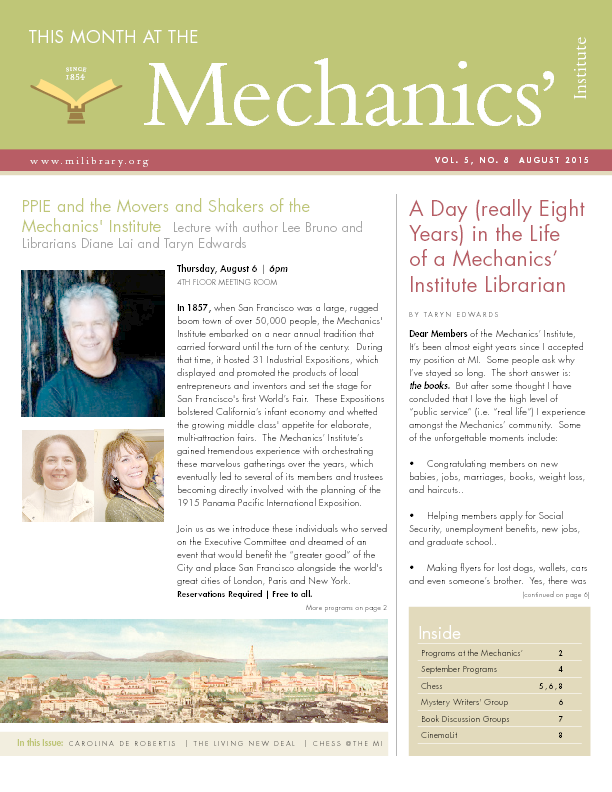 PDF version of theThis Month: August 2015 publication