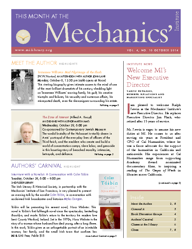 PDF version of theThis Month: October 2014 publication