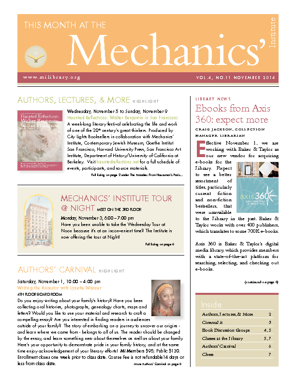 PDF version of theThis Month: November 2014 publication