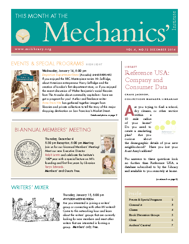 PDF version of theThis Month: December 2014 publication