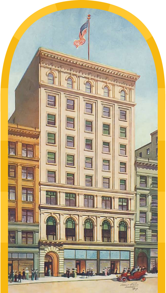 Color Drawing of 57 Post Street Building