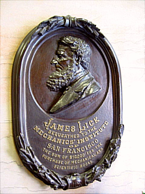 James Lick Plaque