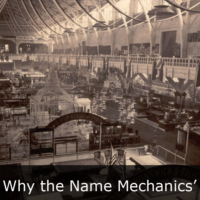 Click to learn why we are called the Mechanics' Institute