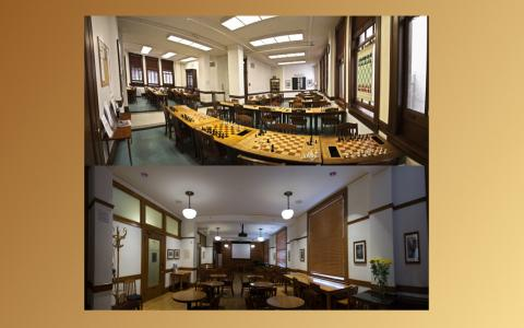 Photographs of the Chess Room and Meeting Room