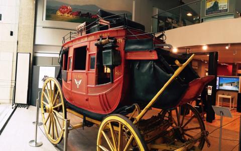 Photograph of a Wells Fargo wagon