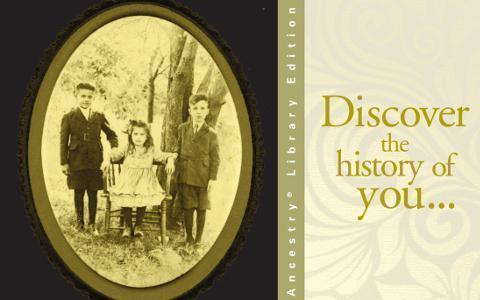 Discover the history of you...