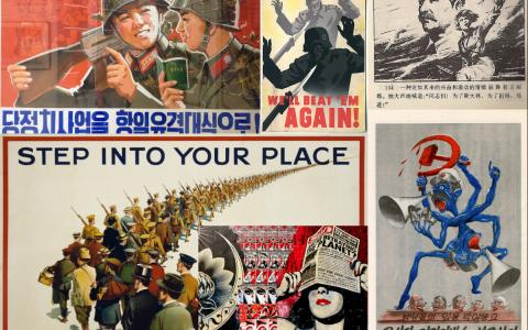 Collage of propaganda posters