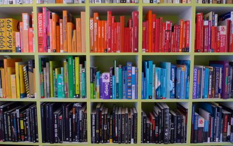 Photograph of a bookshelves