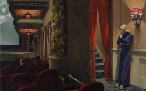 detail of New York Movie by Edward Hopper
