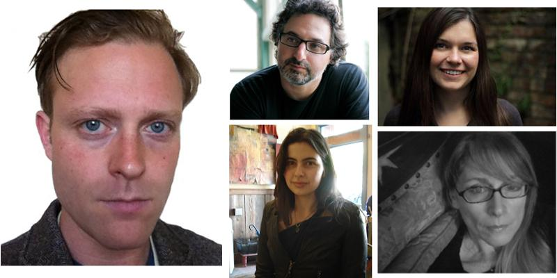 Photographs of Paul Madonna, Heather Monley, Austin Smith, Dominica Phetteplace, and Lauren Alwan