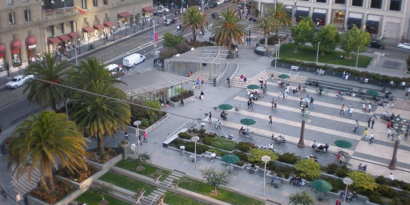 Arial photograph of Union Square
