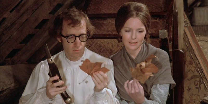 Still image from the film Love and Death