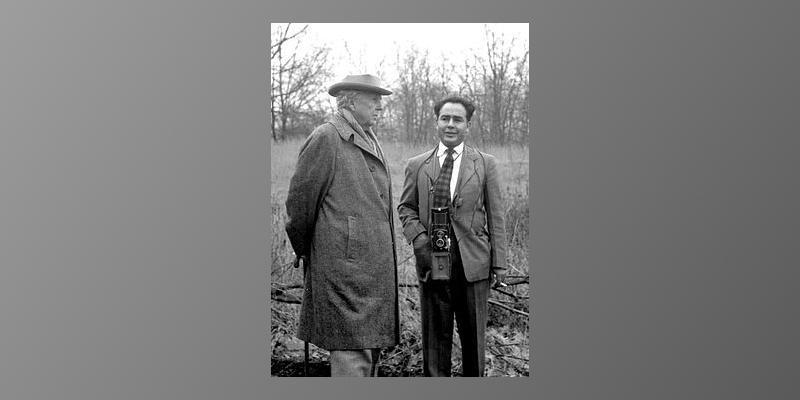 Photograph of Frank Lloyd Wright and Pedro E. Guerrero