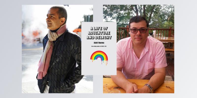Photographs of Akhil Sharma and Oscar Villalon