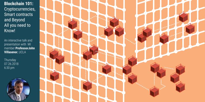 blockchain event poster