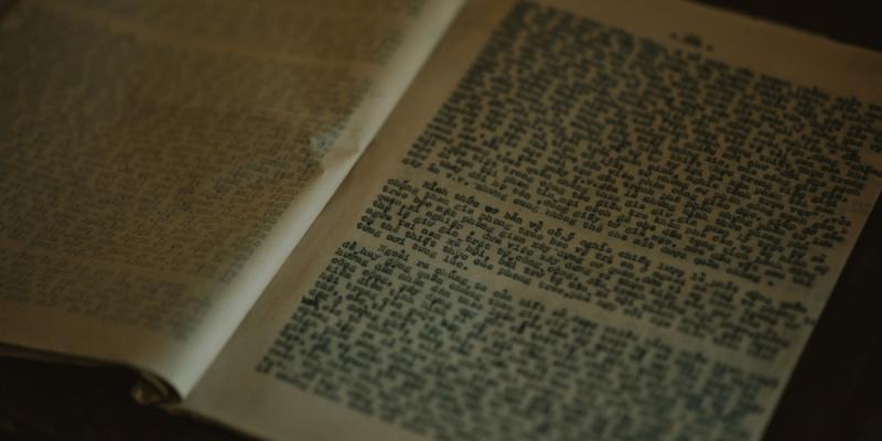 Photograph of an open book