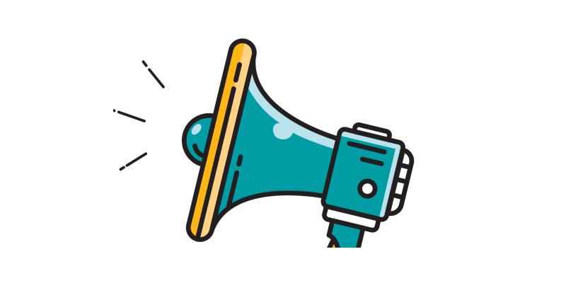 Illustration of a bullhorn