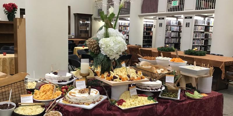 photo of the food table