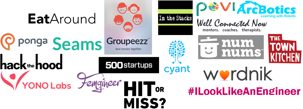 Logos of the participating startups