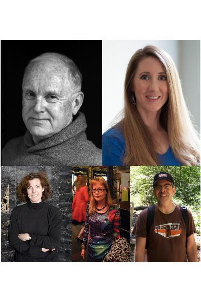 Photographs of Laura Ackley, Gray Brechin, Kerry Laitala, Therese Poletti, and Christopher VerPlanck