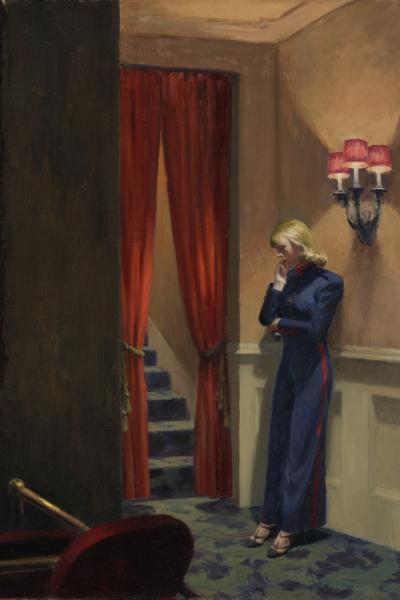 detail of New York Movie by Edward Hopper
