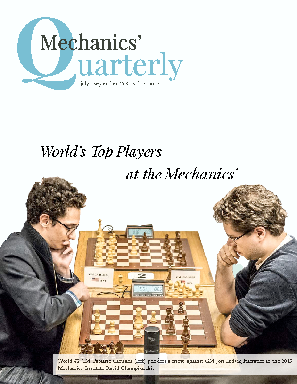 PDF version of theMechanics' Quarterly Fall 2019 publication