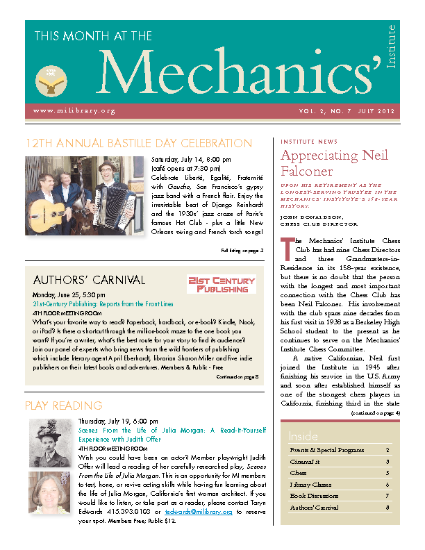PDF version of theThis Month: July 2012 publication