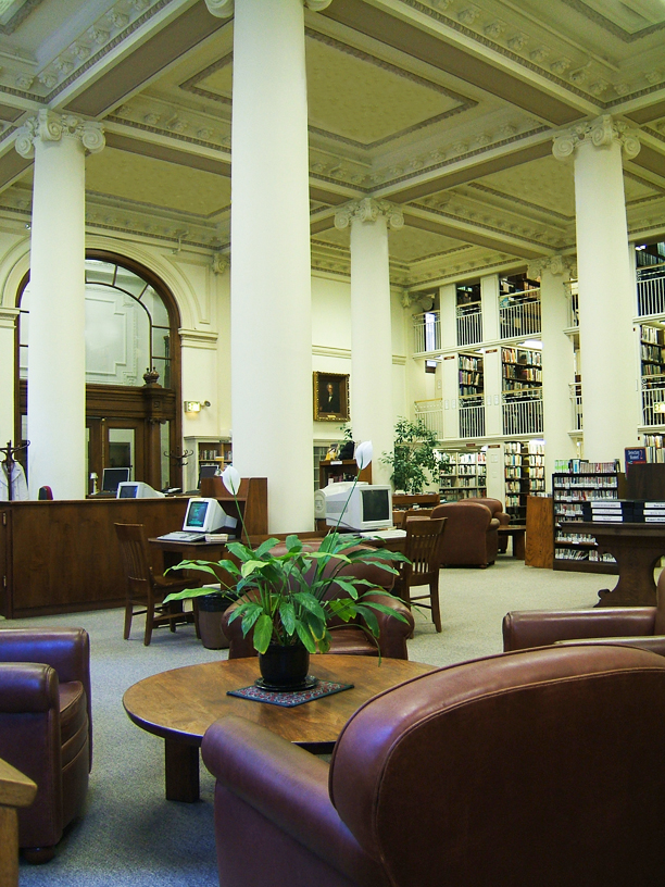 Photograph of the second floor library
