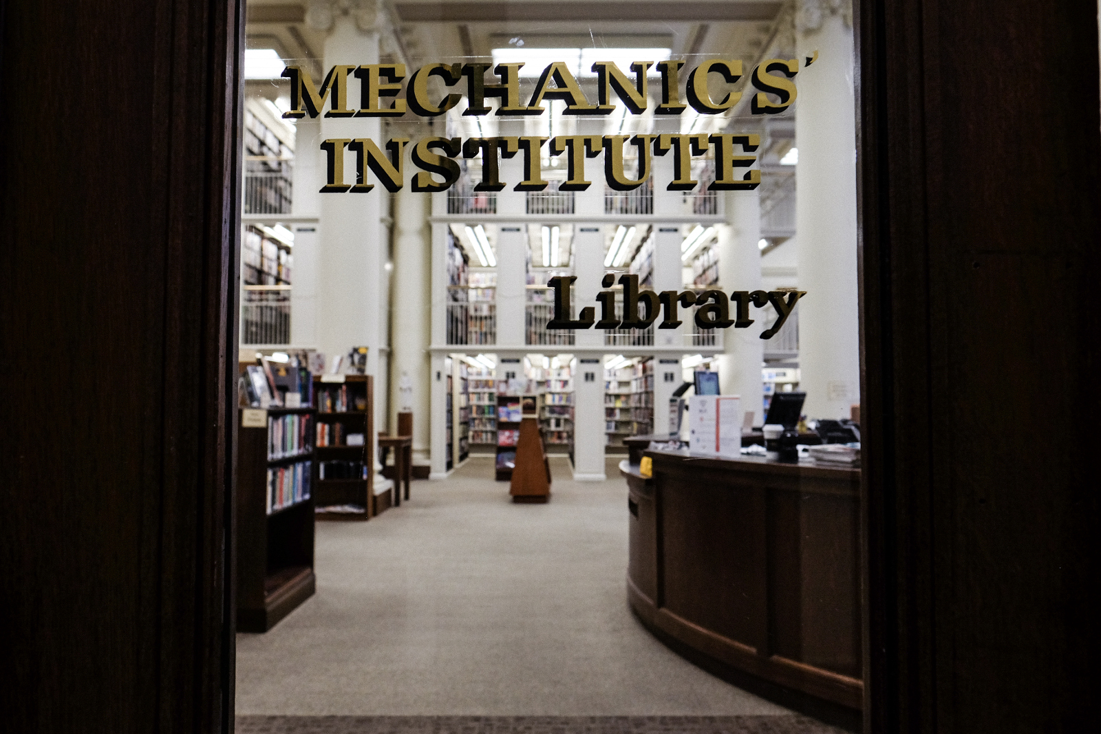 Photo of the library entrance