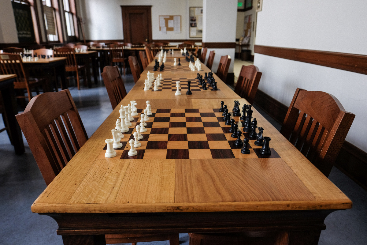 Photograph of the chess room