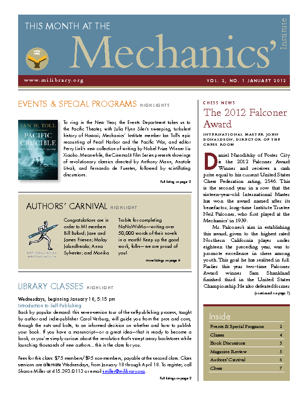 PDF version of theThis Month: January 2012 publication