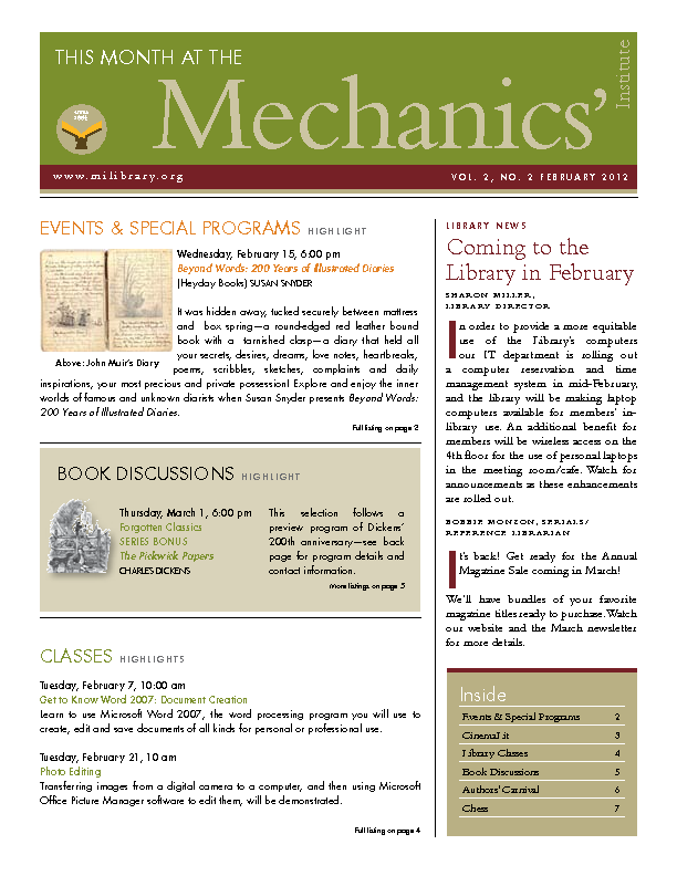 PDF version of theThis Month: February 2012 publication