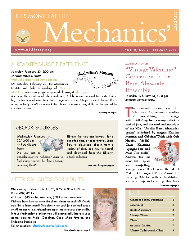 PDF version of theThis Month: February 2013 publication